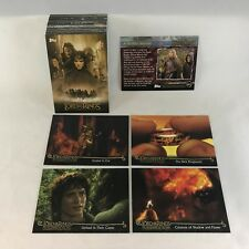 LORD OF THE RINGS: FELLOWSHIP OF THE RING UPDATE (Topps 2002) Complete Card Set