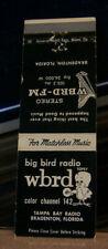 Vintage Matchbook Cover A2 Bradenton Florida WBRD Radio Big Bird Cute Mascot