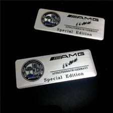 2pcs Logo AMG Affalterbach SILVER Emblema pour Mercedes emblem aufkleber badge