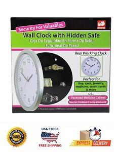 RHINO Secret Clock Safe Hidden Wall Jewelry Security Money Compartment Stash Box