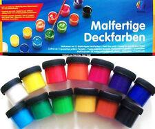 (Gp3,93€/100ml) 13 Malfertige Deckfarben Nerchau  Malkasten Deckfarbe Tuschfarbe