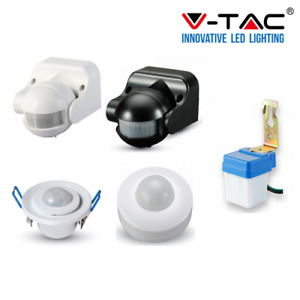 Sensore di Movimento V-Tac Infrarossi IR PIR Microonde per Lampadine Luci LED