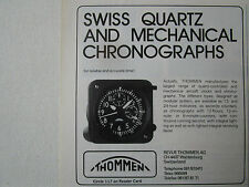 9/89 PUB REVUE THOMMEN WALDENBURG SWISS QUARTZ AIRCRAFT CLOCKS CHRONOGRAPHS AD