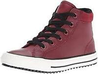 SCARPE SNEAKERS UOMO DONNA CONVERSE ALL STAR CT AS HI 654310C RED BLOCK PELLE