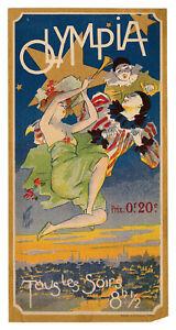 FERDINAND MIFLIEZ (MISTI), 'OLYMPIA', vintage Belle Epoque flyer,1898.