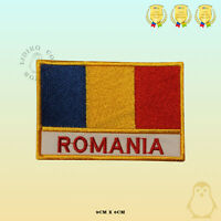 Romania National Flag With Name Embroidered Iron On Sew On Patch Badge