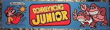 "Donkey Kong Jr Arcade Marquee Header 22.3"" x 5.8"""