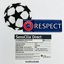 Starball Respect patch badge SportingID Official  Uefa Champions League Shirt