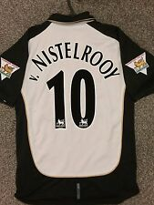 Manchester United Vintage 2001/02 Away Réversible Chemise Adultes (M) 10 V. Nistelrooy