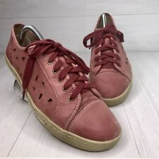 Earth Pomelo Red Leather Cutout Oxford Sneakers Comfort Casual Women's Shoe 10 B