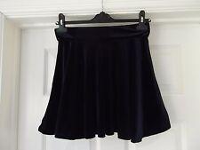 Blue Velvet Skirt by Influence Size Small Mini/Short Length Elasticated Waist