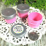100 PINK Plastic Jars Silver Caps tops screw lids cosmetic USA Container #3803