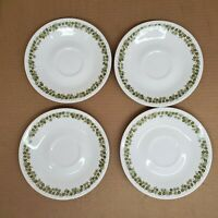 """Lof of 4 - Vintage Corelle by Corning Crazy Daisy - Spring Blossom - 6"""" Saucers"""