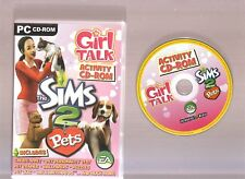 GIRL TALK THE SIMS 2 PETS ACTIVITY CD-ROM FOR THE PC!!