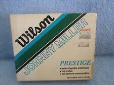 JOHNNY MILLER SIGNATURE LOGO GOLF BALLS BOX; WILSON PRESTIGE; 12 BALLS BRAND NEW