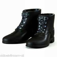 Infirmary Exclusives WWII US Black Short Boots for Action Figures 1:6 (g18)