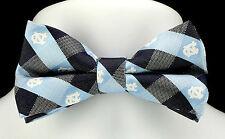 North Carolina Tarheels UNC Plaid Mens Bow Tie Adjustable College Bowtie New