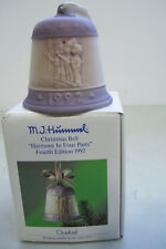 "M.J. Hummel 1992 Christmas Bell ""Harmony In Four Parts"" Fourth Edition Germany"