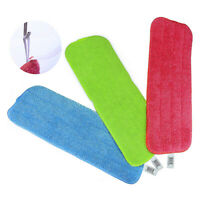 3PCS Microfibre Floor Mop Replacement Pad Cloths Spray Mop Refill Head Cloth