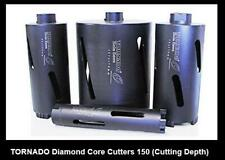 Concrete Brick Masonry Diamond Core Cutter 150 Depth Drill with FREE Arbor Kit