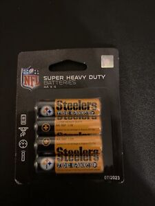Brand New 4Pack Pittsburgh Steelers AA batteries. J Brand