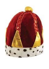 Adulto Terciopelo Kings Crown Fancy Dress Accesorio Natividad sabios corona realeza