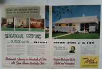 1957 National Homes Corporation Sensational restyling vintage model home ad