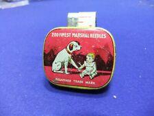 needle tin gramophone marshal dog baby 200 advert advertising record player
