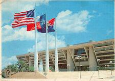 postcard   USA  Texas  Flags over Texas - Dallas City Hall    posted