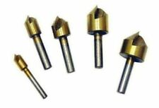 "5 Pc Titanium Countersink Bit Set 1/4"", 3/8�, 1/2"", 5/8�, 3/4"""