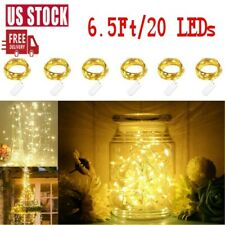 6-18Pack 20LEDs Mini Copper Wire String Fairy Light Battery Operated Lamp Decor