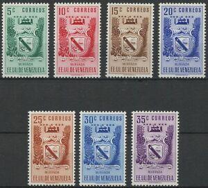 Venezuela 1952 MH Stamp Set   Scott 506-512   Miranda Coat of Arms & Agriculture