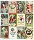Santa Claus Christmas Vintage Postcards Lot of 12 AMB Bergman BW Stecher Crafts