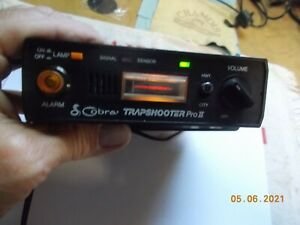 Cobra Trapshooter Pro II RD-4100 Radar Detector w/ DC Lighter Plug, Powers on