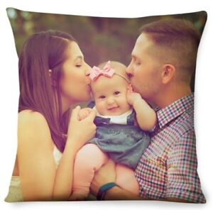 Personalised Cushion Cover Photo Gift Custom Made BOTH SIDES PRINT Edge to Edge