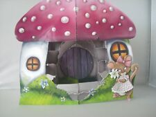 HANDMADE POPUP LITTLE MISS MOUSE GROTTO BIRTHDAY CARD