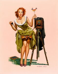 Vaughan Bass Pin Up Girls Giclee Art Paper Print Poster Reproduction