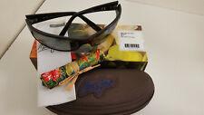 Maui Jim Peahi MJ 202-02 Mens Wrap Sunglasses Black Nuetral Grey Polarized Lens