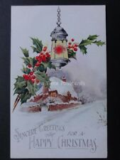 Christmas Card: SINCERE GREETINGS FOR A HAPPY CHRISTMAS...c1928 by J.Salmon 3496