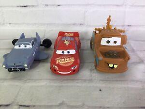 Disney Pixar Cars Mater Lightning McQueen Finn Mcmissile Swim Rubber Toys Figure