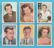 JF SPORTING COLLECTIBLES - SET OF XL 24 FAMOUS FILM STARS 1940/50s  - 2ND SERIES