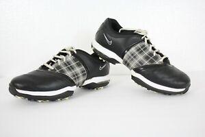 NIKE AIR T.A.C. Women's 8.5 Black Plaid Checkered Shoes Cleats Spikes 549576-001
