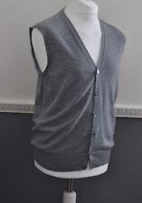 e68ee55bb760c6 Boggi Milano Italian Designer Mens Slipover Cardigan Vest 100% Virgin Wool  Large