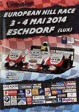 European Hill Race Eschdorf Lux. 5/14 2014 Rennprogramm Bergrennen Programmheft