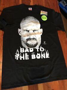 Vintage 90s WWF Stone Cold Steve Austin Bad To The Bone Glow In Dark T-Shirt 2XL