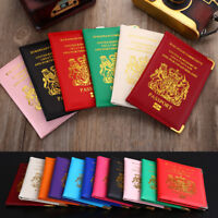 Travel Passport Protector Cover PU Wallet ID Cards Holder