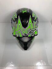 Fulmer JT1 Maze Youth Motocross DOT Helmet MD Green Maze Youth Medium