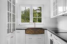 """Hand Hammered Copper Round Apron Farmhouse Kitchen Sink Design 1, 30""""x20"""""""