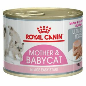 Royal Canin First Age Mother & Babycat Mousse Kitten Wet Cat Food Transition Can