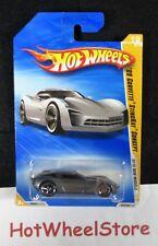 2010 Hot Wheels  Gray  '09 CORVETTE STINGRAY CONCEPT   New Model #019  47-013119